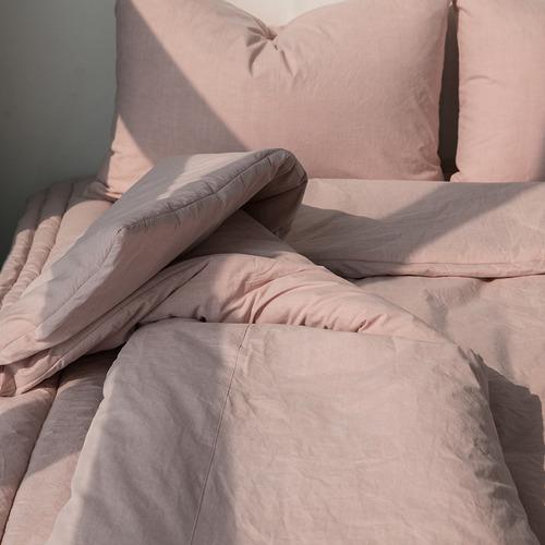 자연염색 침구세트 핑크